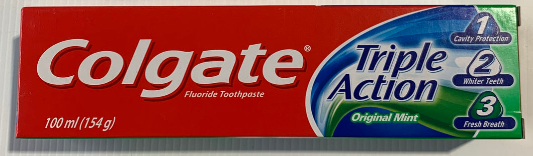 Colgate TRIPLE ACTION Toothpaste 154g 100ml