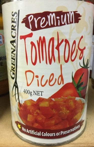 Green Acres Premium DICED TOMATOES 400g