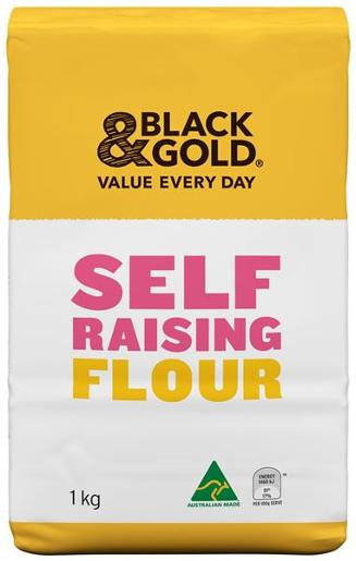 Black & Gold SEKLF RAISING FLOUR 1KG