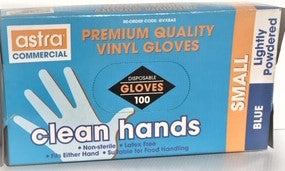 Small Lightly Powdered  GLOVES - Food Handling 100's