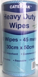Caterpak HEAVY DUTY WIPES with ANTI BACTERIAL PROPERTIES - Chux Roll