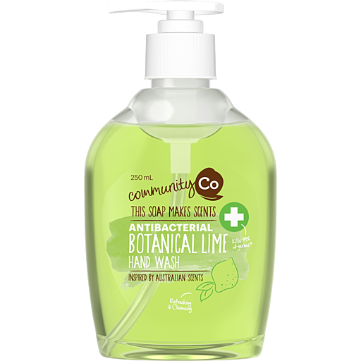 COMMUNITY CO ANTI BACTERIAL HAND WASH BOTANICAL LIME 250ml