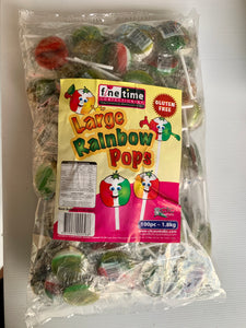 Rainbow LOLLY POPS (100) Large 1.8kg