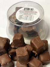 Load image into Gallery viewer, Red Hill Confectionery - Milk Chocolate Coated Rose Turkish Delight 200g Tub