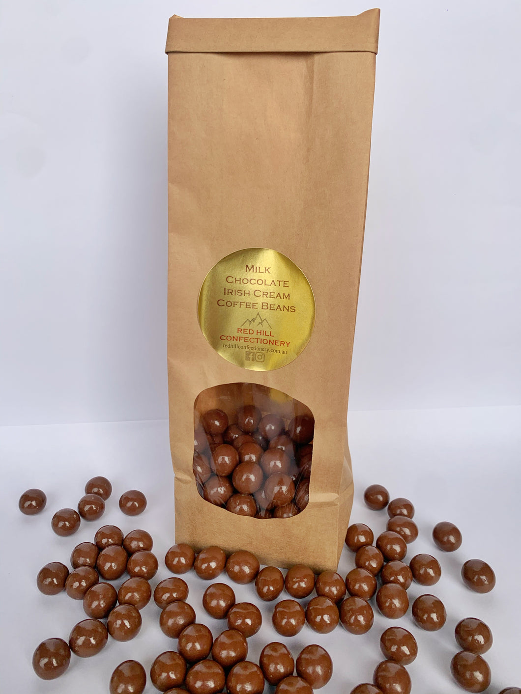 Red Hill Confectionery - Milk Chocolate Irish Cream Coffee Beans 220g Bag