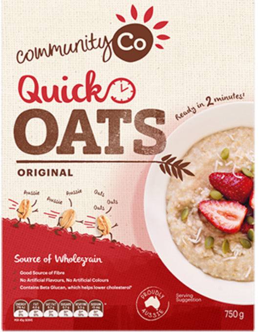 COMMUNITY CO QUICK OATS 750g Breakfast Cereal