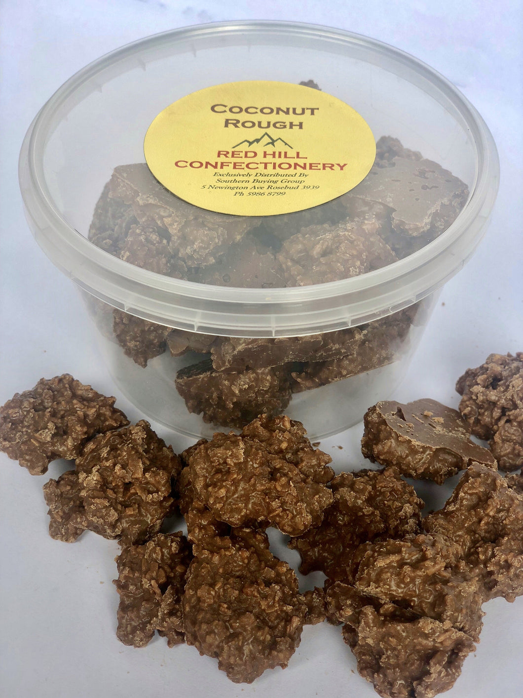 Red Hill Confectionery - Chocolate Coconut Rough 200g Tub