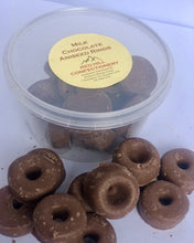 Load image into Gallery viewer, Red Hill Confectionery - Milk Chocolate Coated Aniseed Rings 200g Tub