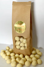 Load image into Gallery viewer, Red Hill Confectionery - White Chocolate Coated Raspberries 400g Bag