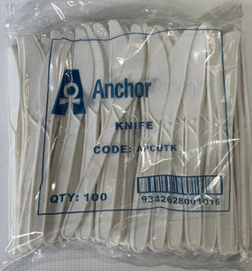 Anchor Packaging Plastic Cutlery - KNIVES 100's