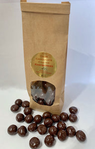 Red Hill Confectionery - Dark Chocolate Coated Raspberries 300g Bag