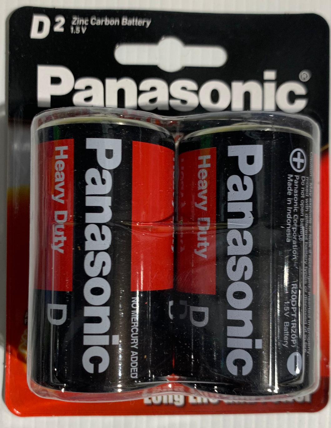 Panasonic D 2 Pack Batteries Heavy Duty