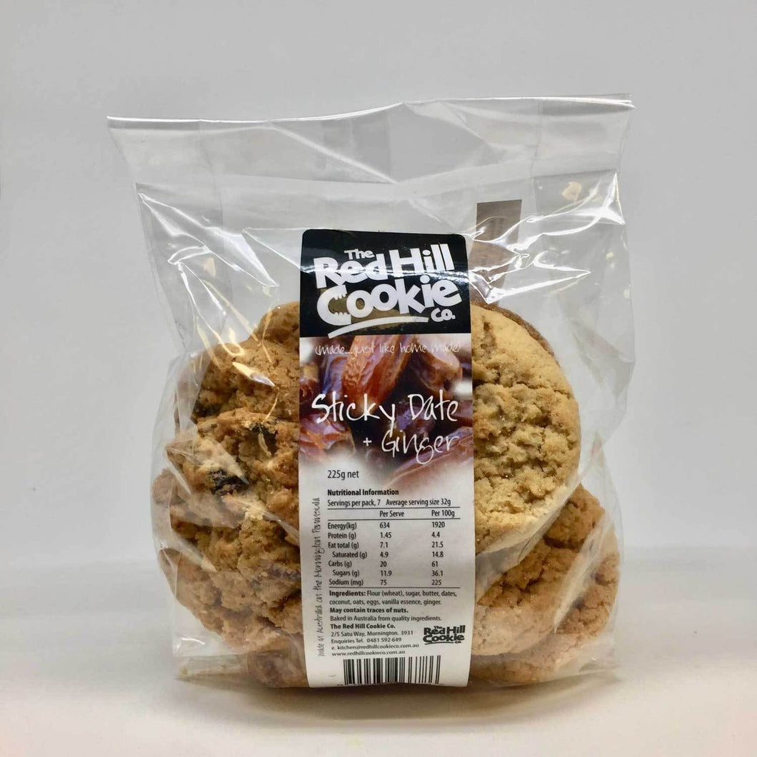 COOKIES Red Hill Cookie Co STICKY DATE & GINGER 250g