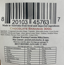 Load image into Gallery viewer, Red Hill Confectionery - Milk Chocolate Coated Bananas 300g Bag