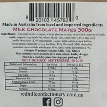 Load image into Gallery viewer, Red Hill Confectionery - Chocolate Caramel Mates 300g Bag