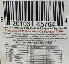 Load image into Gallery viewer, Red Hill Confectionery - Chocolate Peanut Cluster 400g Bag