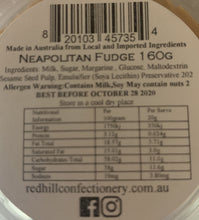 Load image into Gallery viewer, Red Hill Confectionery - Neapolitan Fudge 160g Tub