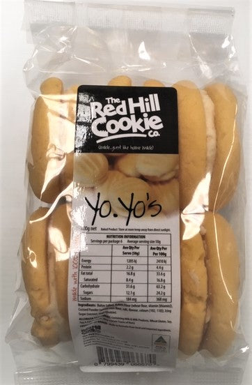 COOKIES Red Hill Cookie Co BUTTER YO YO's 6 Pack 300g