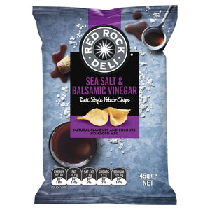 Red Rock Deli SEA SALT & VINEGAR Chips 45g