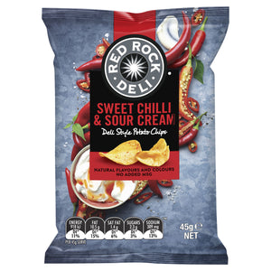 Red Rock Deli SWEET CHILLI & SOUR CREAM Chips 45g