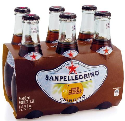 San Pellegrino CHINOTTO 250ml x 6 Pack Glass Bottles