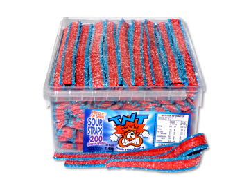TNT Sour Straps BLUE RASPBERRY 1.4kg Approx 200