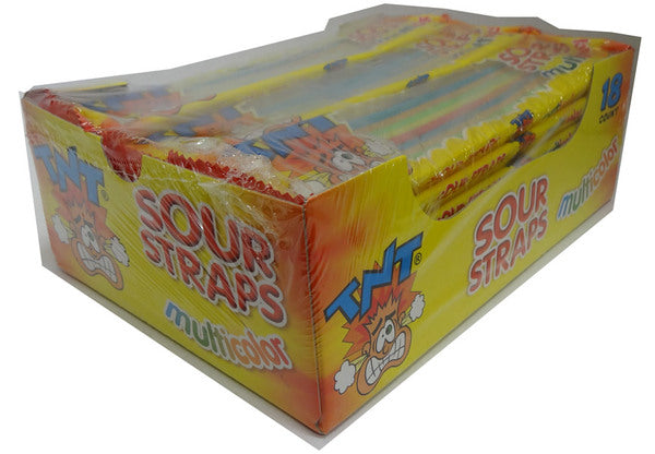 TNT Individually Wrapped Sour Straps MULTI COLOR 1kg 18 x 57g