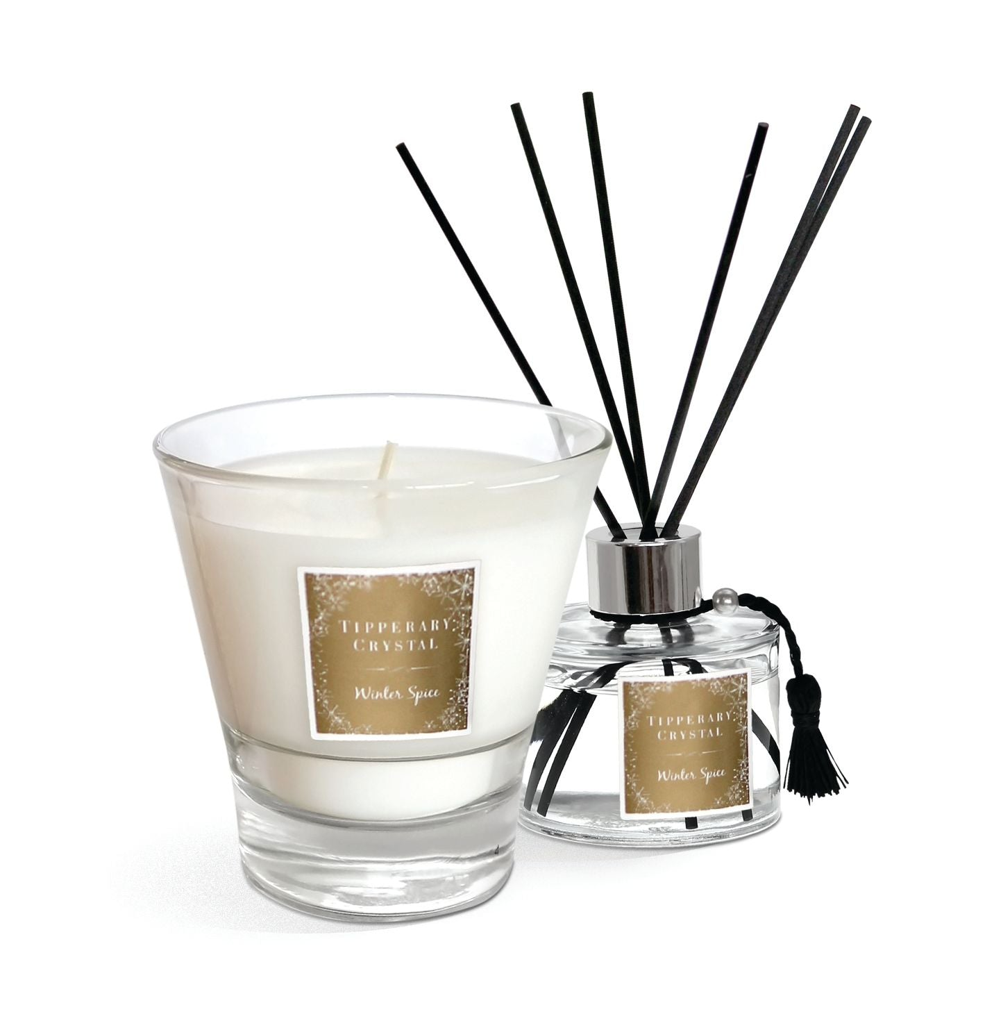 Tipperary Crystal Candle and Diffuser Set Winter Spice