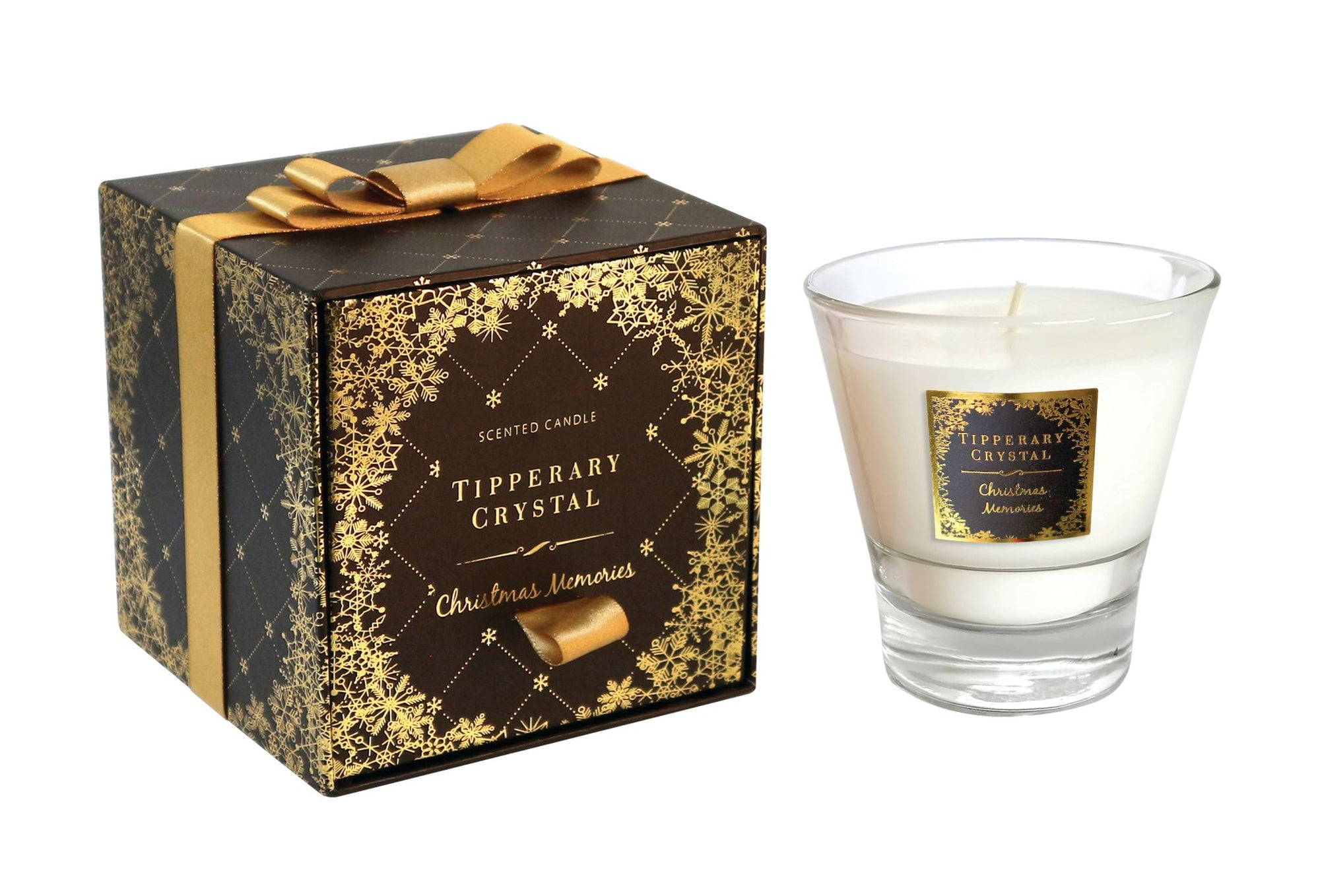 Tipperary Crystal Christmas Memories Candle 300g