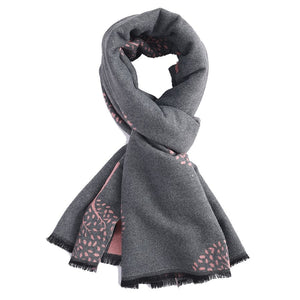 Pure Accessories Terry Mulberry Trees Scarf Grey/Pink