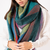 Pure Accessories Scarf Stripe Teal
