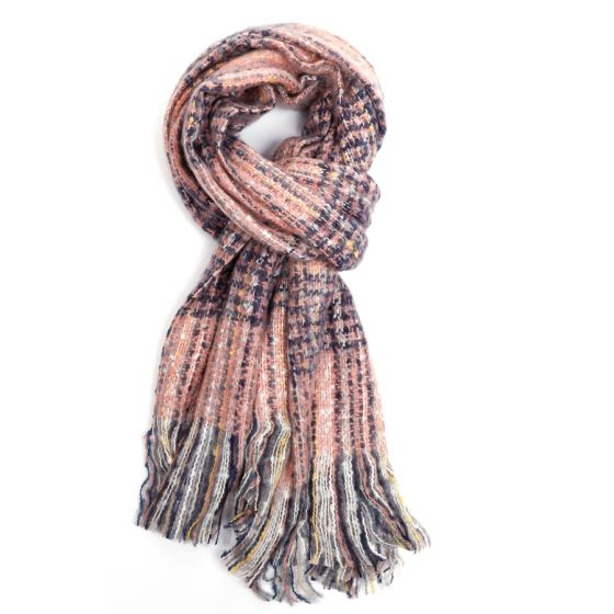 Pure Accessories Scarf Pink Mix