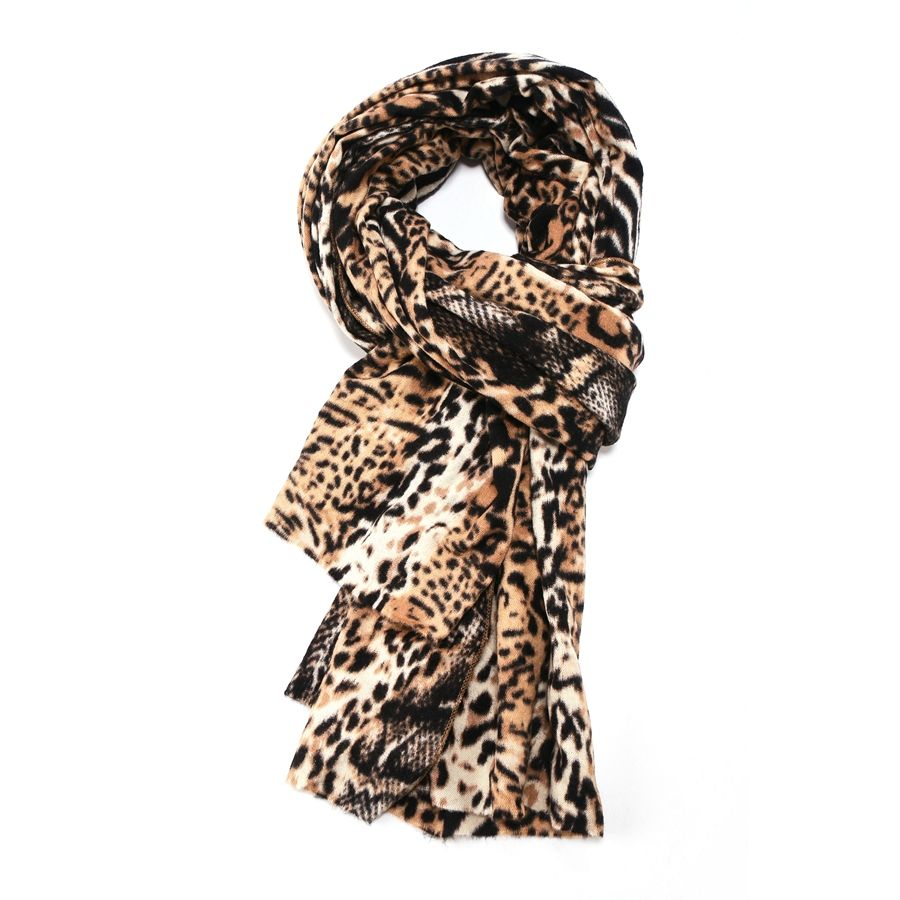 Pure Accessories Animal Print Scarf