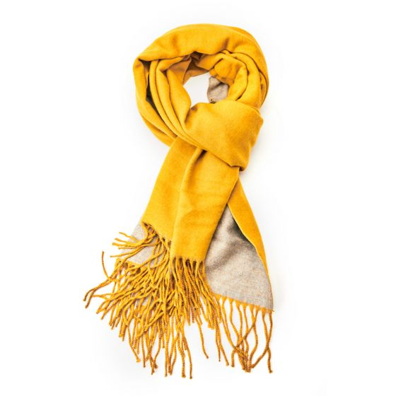 Pure Accessories Scarf Mustard/Grey