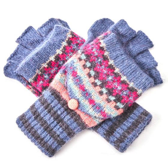 Pure Accessories Wool  Gloves Blue