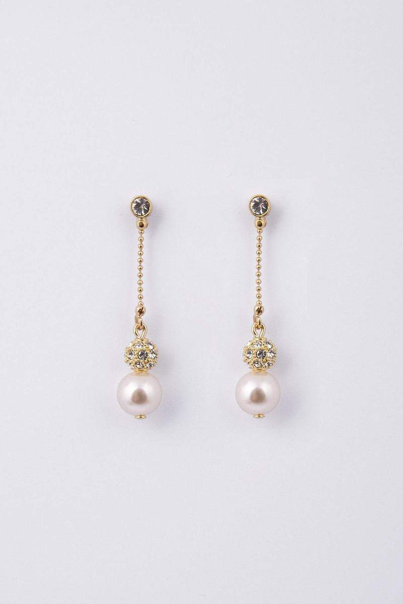 Knight & Day Pearl Gold Earring