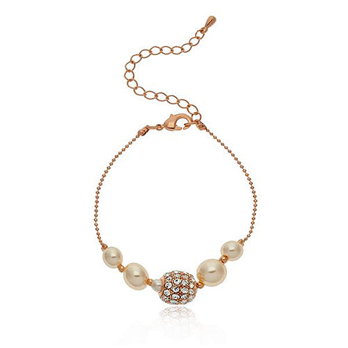 Knight & Day Pearl Rose Gold Bracelet