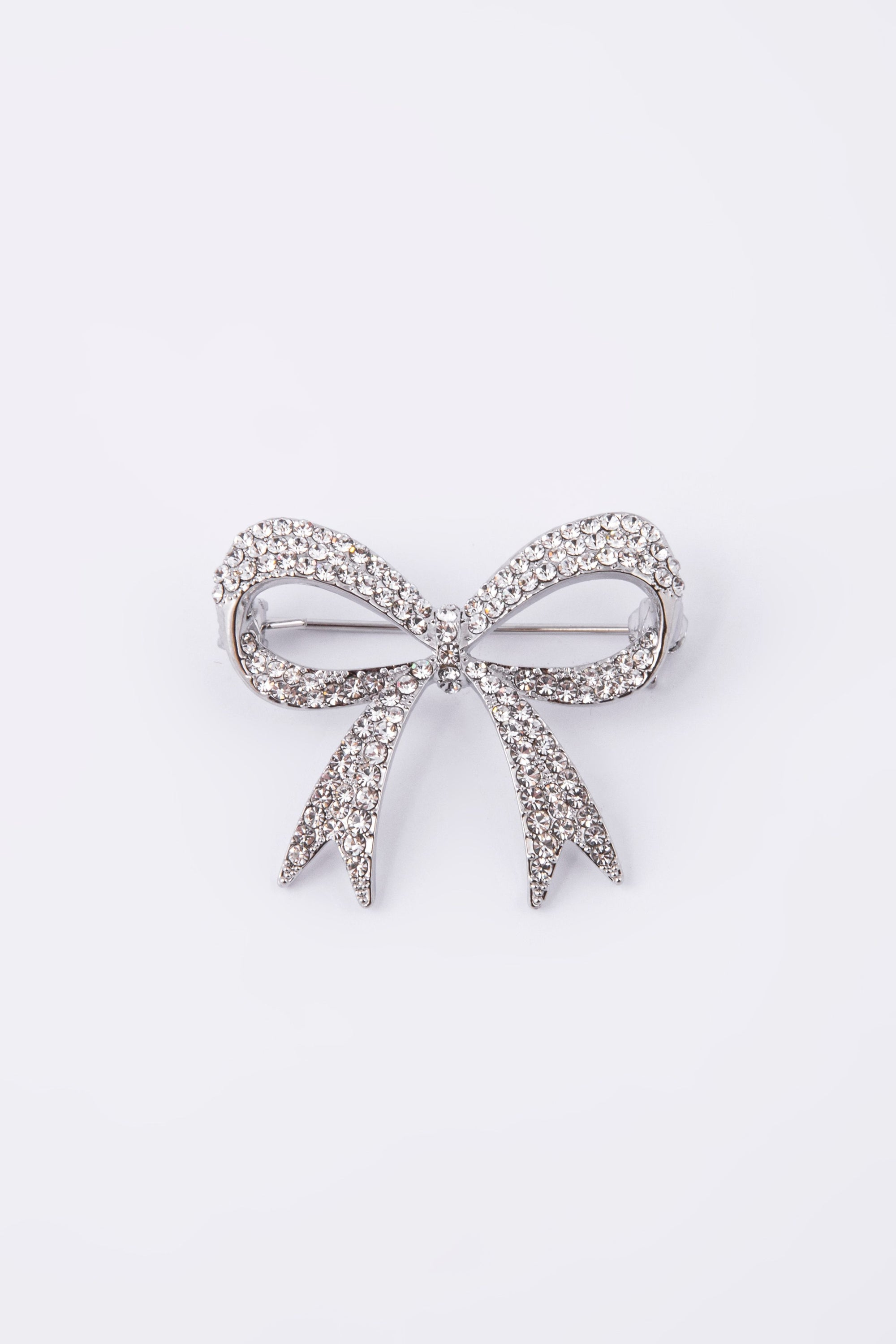 Knight & Day Bow Silver Brooch