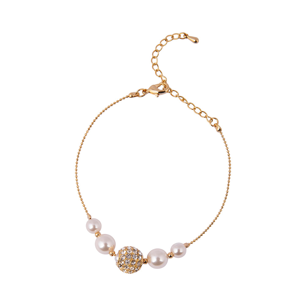 Knight & Day Pearl Gold Bracelet