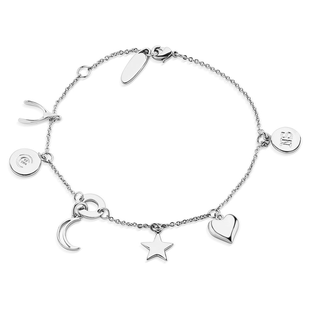 Newbridge Silverware Amy Huberman Multi charm Bracelet