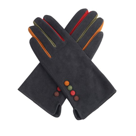 Pure Accessories Gloves-Leather Suede-Grey