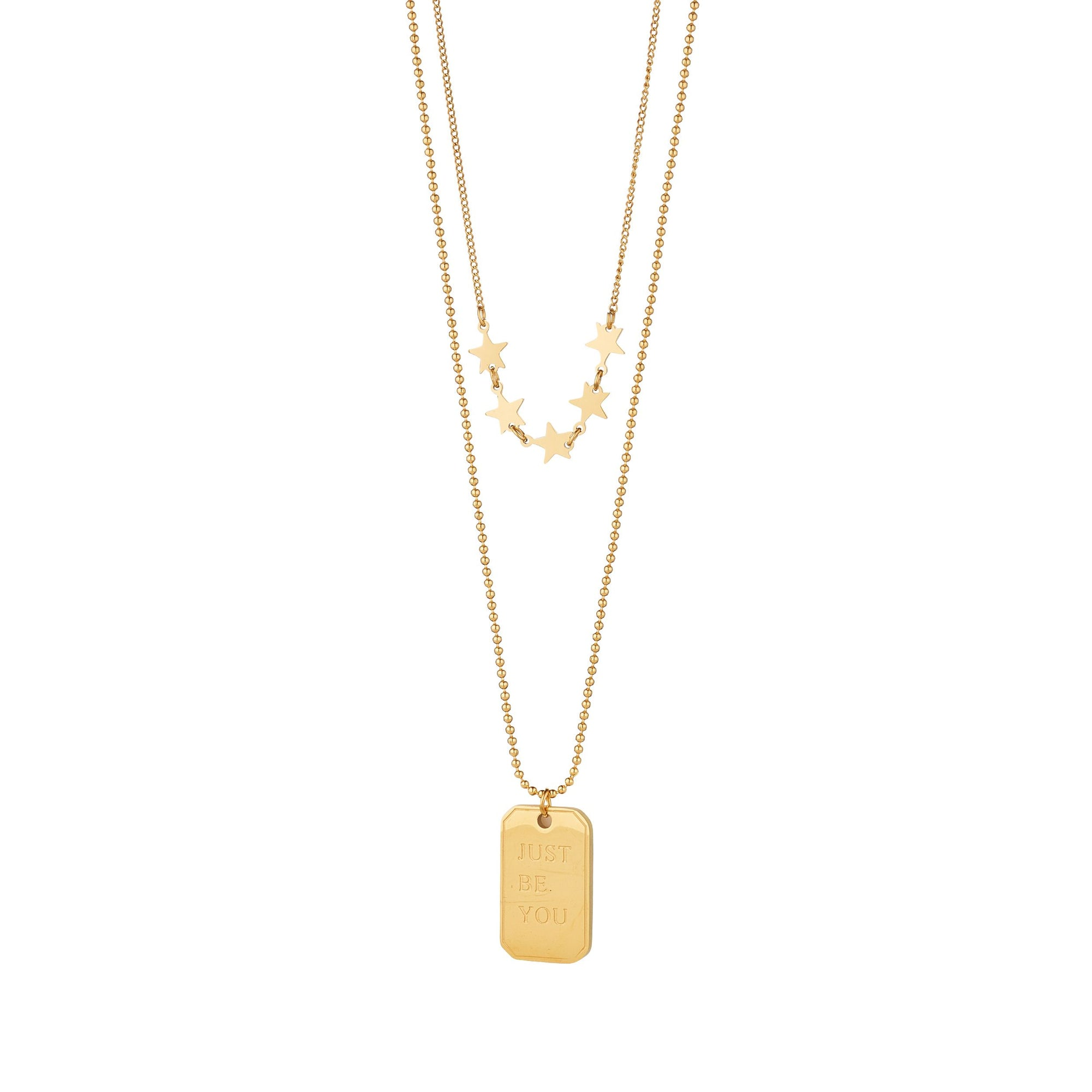 Knight & Day Gold Necklace