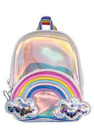 RAINBOW & STARS CLEAR MINI BACKPACK