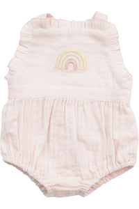 RAINBOW EMBROIDERED PINAFORE BUBBLE *ORGANIC*