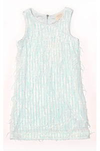 SEQUIN & BEAD FRINGE DRESS