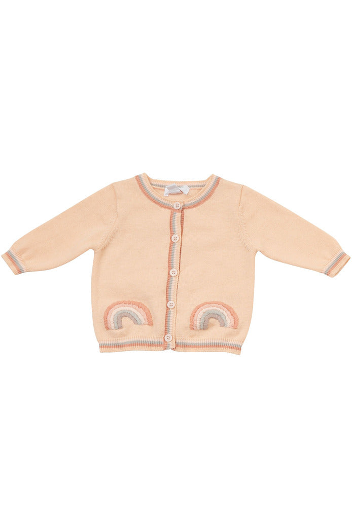 RAINBOWS EMBROIDERED CARDIGAN