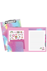 PINK HOLOGRAPHIC CLIPBOARD SET