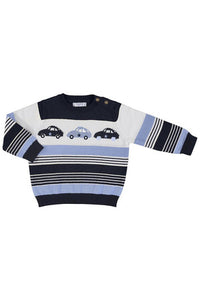 VARIEGATED STRIPE SCOOTER SWEATER