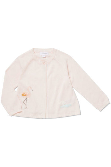 FLAMINGO EMBROIDERED CARDIGAN