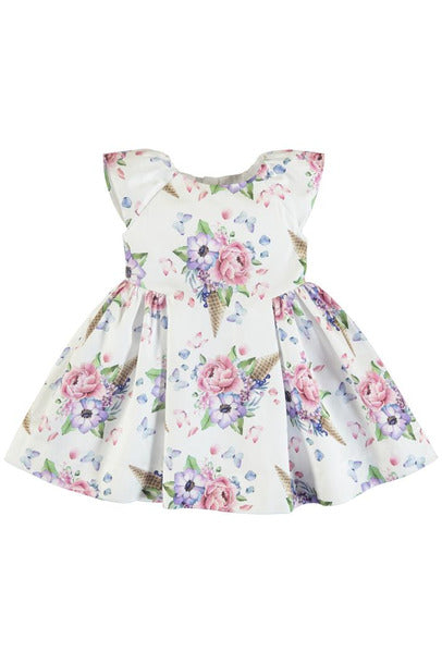 FLORAL CONE PRINT DRESS